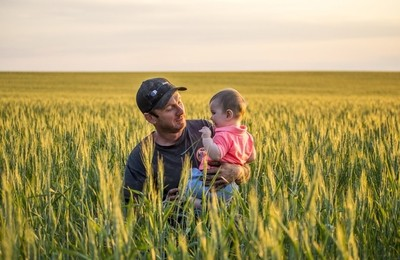 Farmer and his daughter