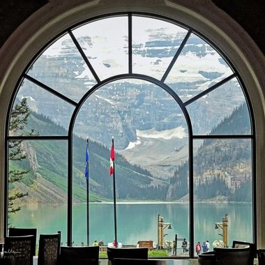 Landscape, Lake Louise, Fairview, Dining room, colours, Mountains, Lake, Colours, Canada