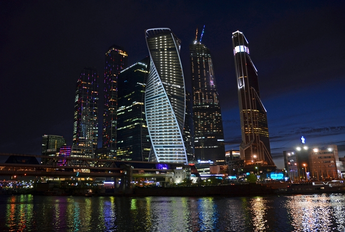 The_Moscow_city by lidija_l - Bright City Lights Photo Contest