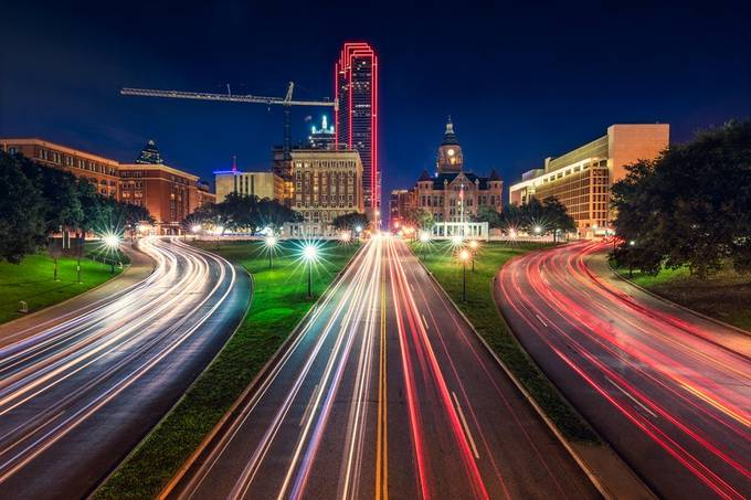 Dealey Plaza - Dallas by jfischerphotography - Bright City Lights Photo Contest
