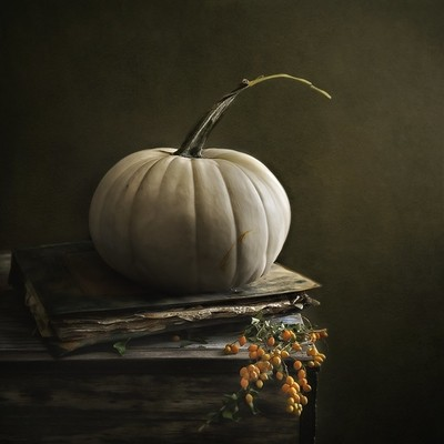 White Autumn Pumpkin
