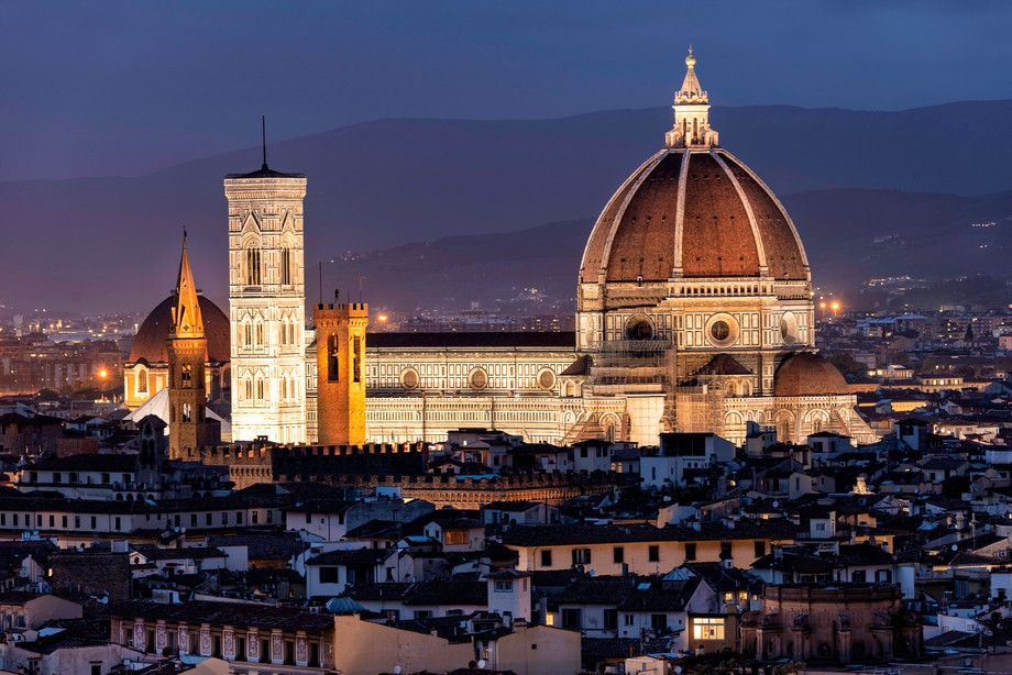 A blue hour shot of the Duomo in Florence