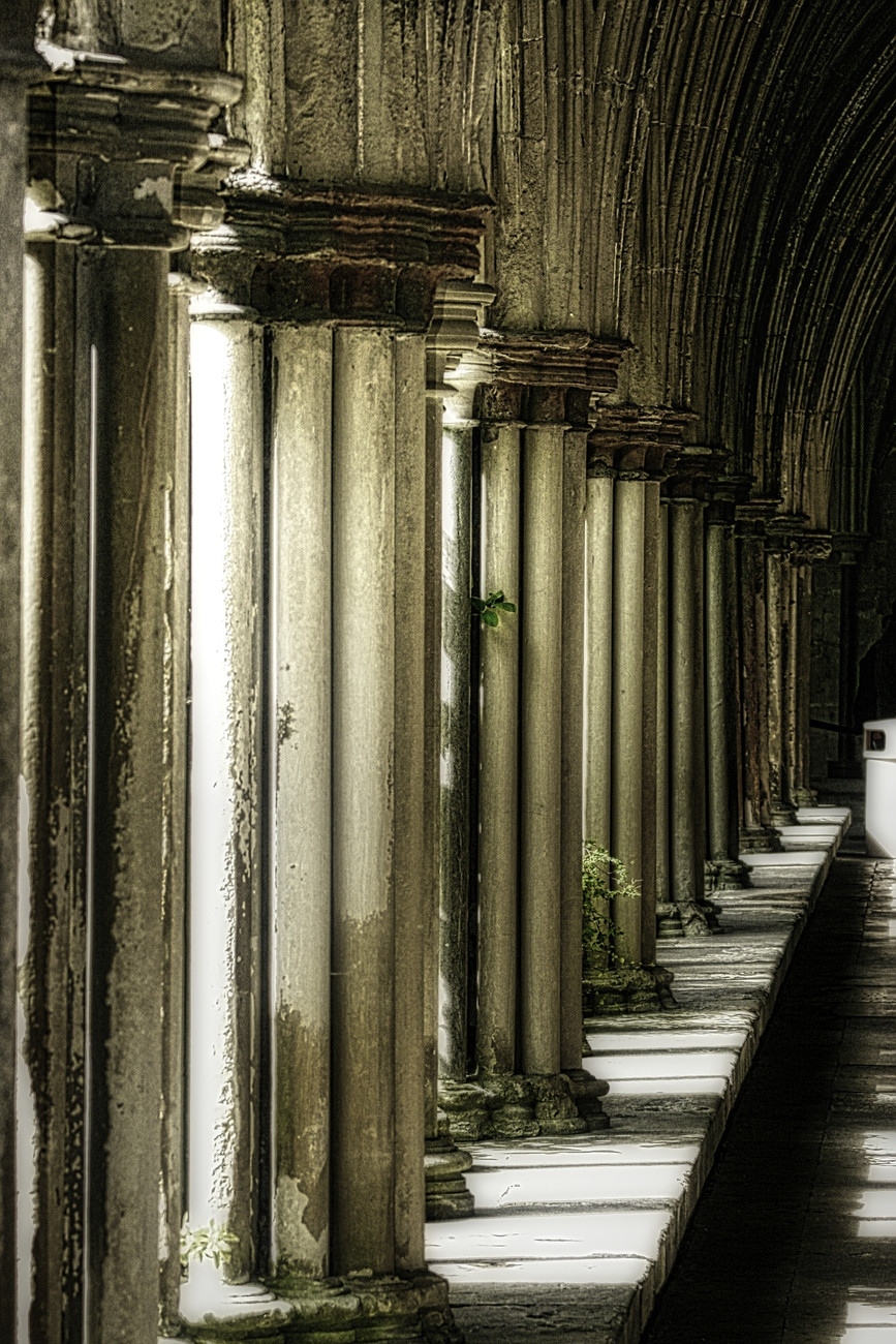 taken in England - beauty in just the columns and the shadows they cast