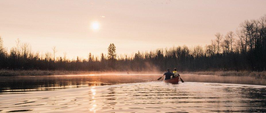 The great canoe adventure.