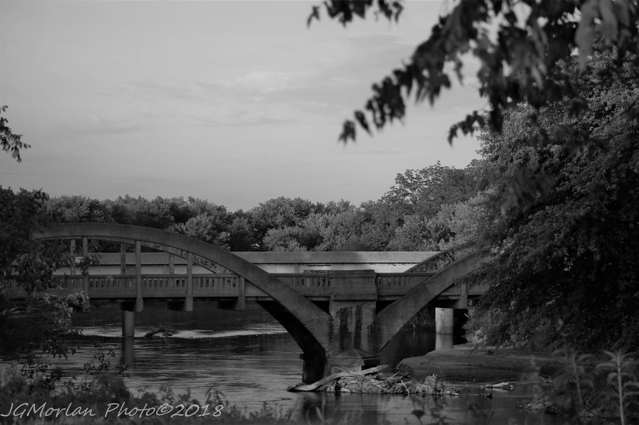 Old (and no longer used) bridge that legend says is haunted by the cries of a baby left on the bridge.  Spans the Raccoon River in Calhoun County, Iowa.
