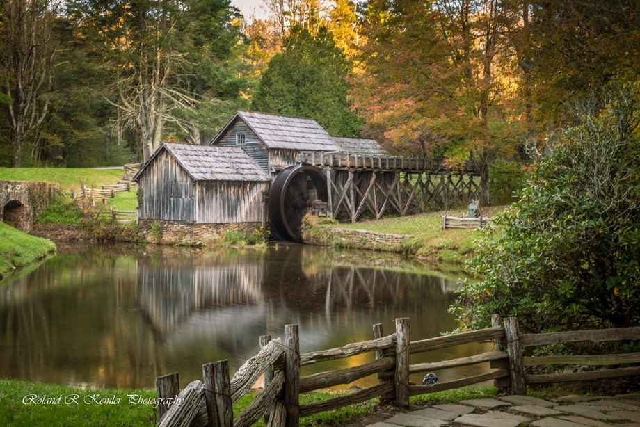 Mabry Mill is a watermill located at milepost 176.2 of Blue Ridge Parkway in Floyd County, Virgin...