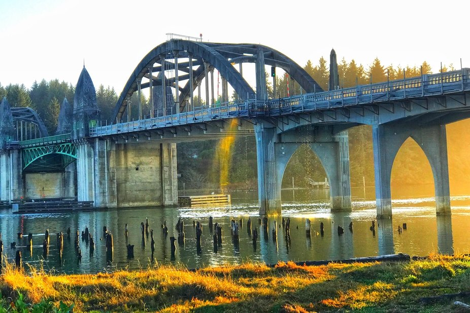 Historic Siuslaw River Bridge, Florence Oregon