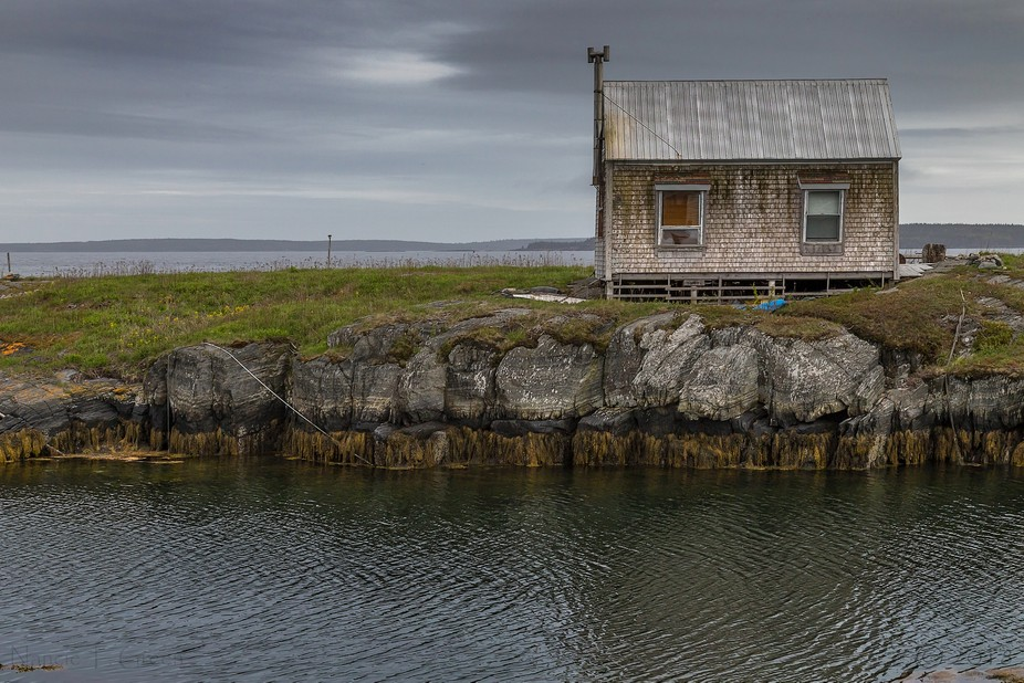Taken at Blue Rocks, NS. Loved the sense of isolation of this tiny house. Seemed to me that there...