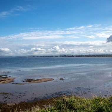 This is a view looking towards Ayr, standing beside Greenan Castle