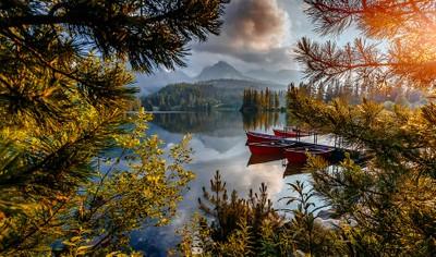 Awesome mountain lake