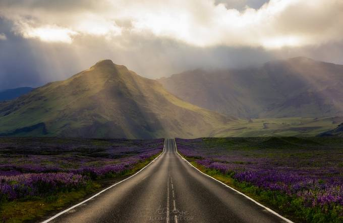 Road to the Heavens, Iceland by alexarmitage - Straight Roads Photo Contest