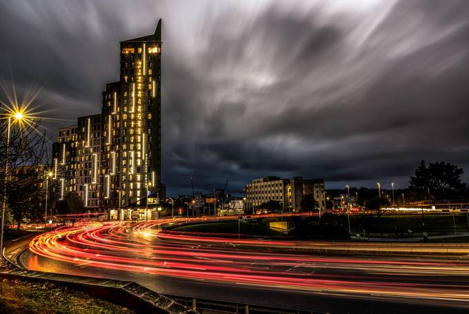 Rush hour by saltashman - Bright City Lights Photo Contest
