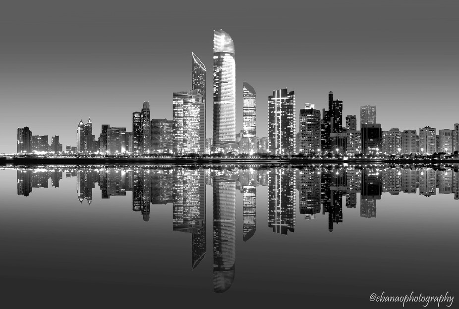 My City Lights on black and white