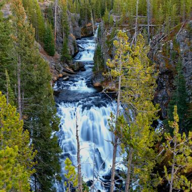 Kepler Cascade in Yellowstone National Park