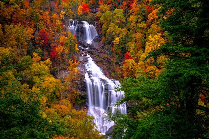 Waterfalls in Autumn by AutumnOaks - Celebrating Earth Day Photo Contest 2019