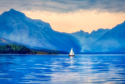 Alone on Lake McDonald