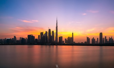 The Dubai Skyline View
