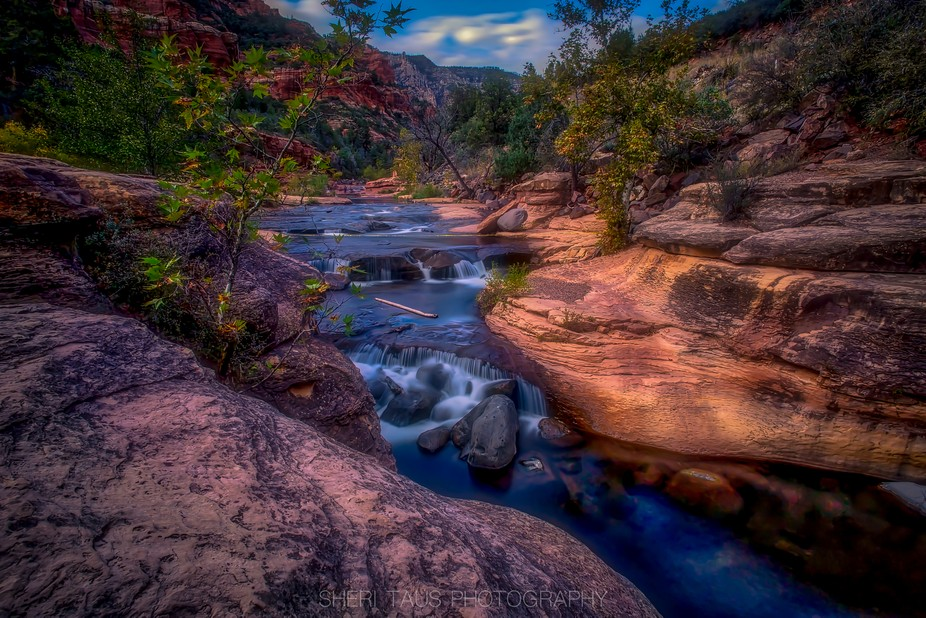 A beautiful area outside of Sedona called Slide rock. Such stunning colors around that area.