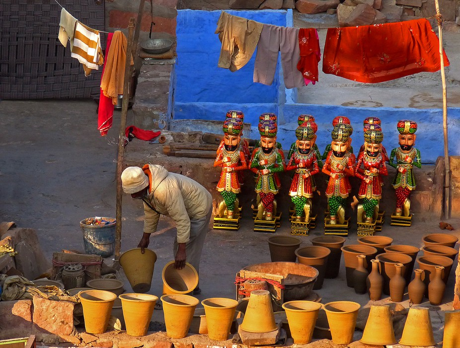 The Potter in Jodhpur,Rajasthan,India