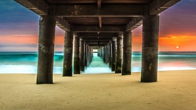 Under The Pier at Ky Co Beach