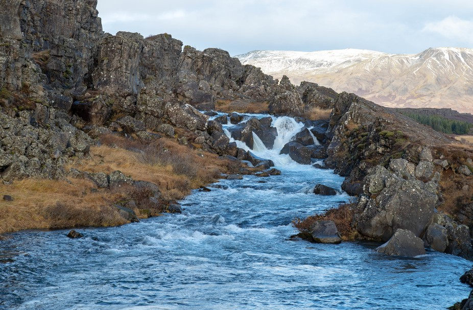 Visited Pingvellir in Iceland.  This is the river that leads to the drowning pool.  Our guide sai...
