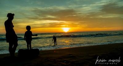 Viareggio the beach at sunset-01