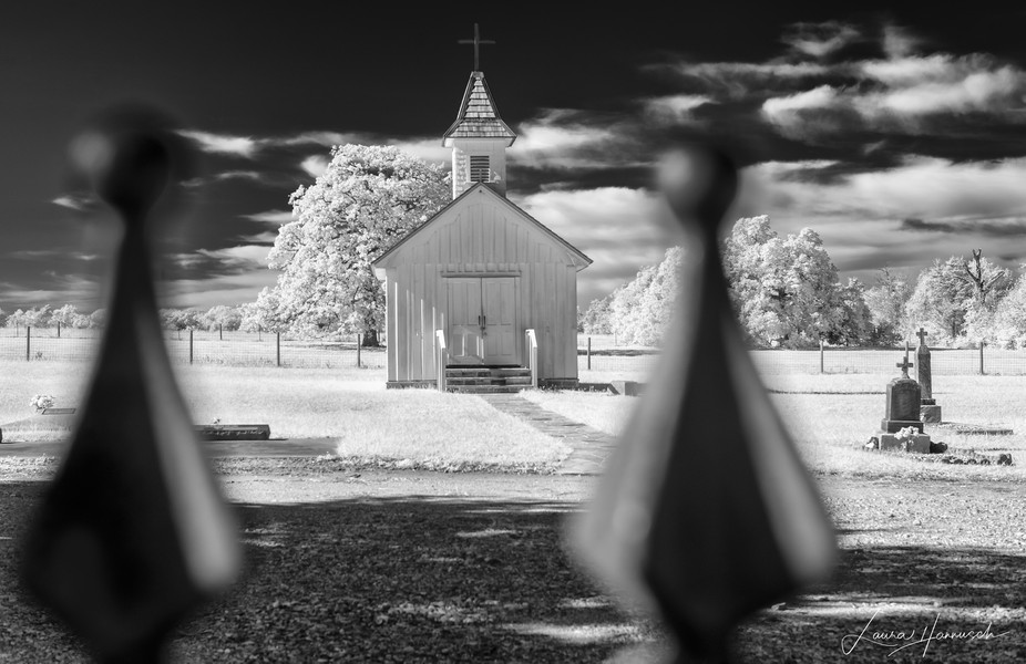 Small town church found on the backroads of Texas