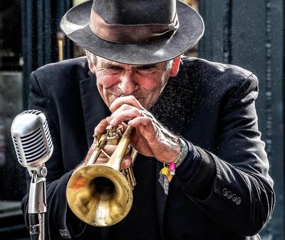 Busker on Brass
