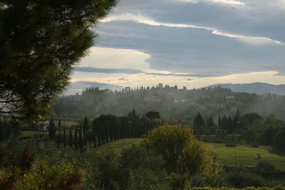 this was my view every morning from my window in Tuscany
