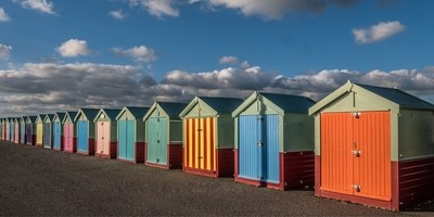 29102018 Hove beach huts, Easr Sussex