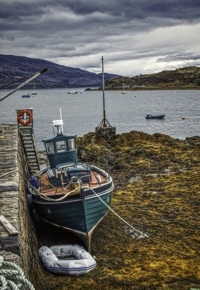 Boat at Low Tide - Scotland