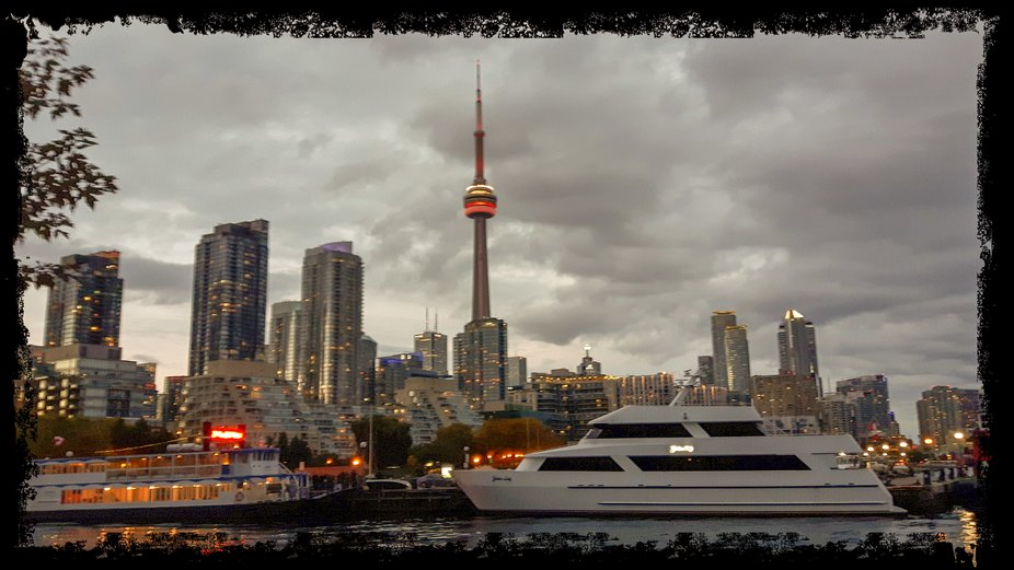 Taken from Ireland Park looking east. The CN Tower is the tallest building in Canada.