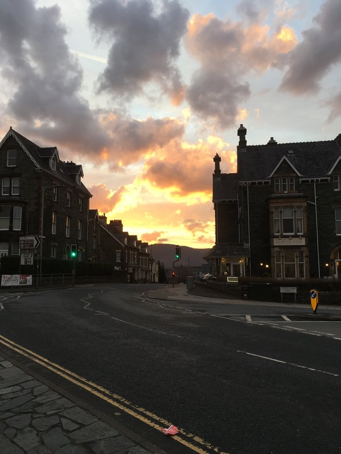 Keswick at sunset