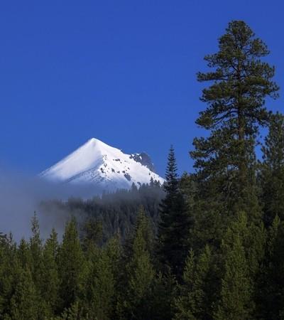 Mount Mcloughlin Oregon with Snow