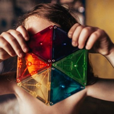 My daughter loves Magnatiles, she loves how they are translucent and the sunlight can make them glow.