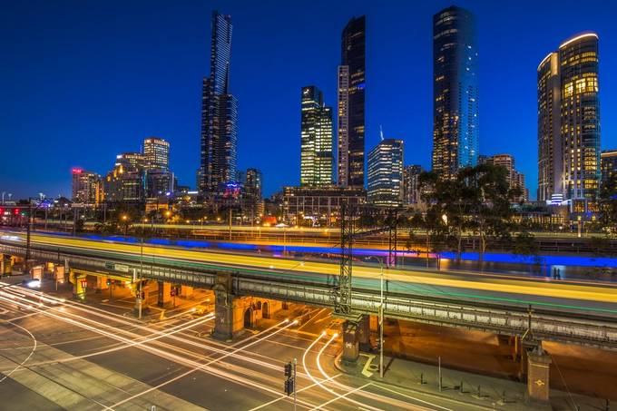 busy city by Midlam - Bright City Lights Photo Contest