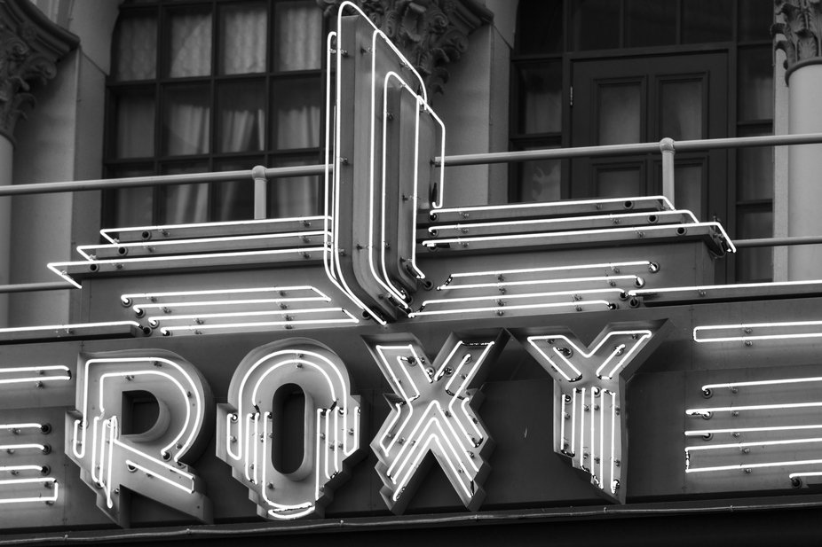 Neon sign at Movieworld