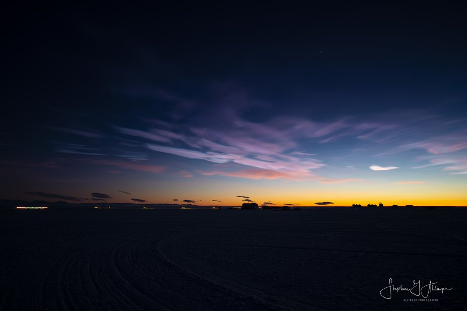 Necreous clouds forming above Phoenix aerodrome, located 11 miles from McMurdo Station, on the Ro...