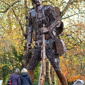 The Hauntings Soldier  #thehauntingsoldier  The artwork has been created by blacksmith and artist Martin Galbavy  A huge statue of a First World ...