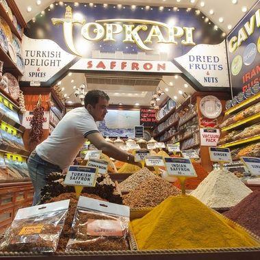 Puesto del Gran Bazar de Estambul
