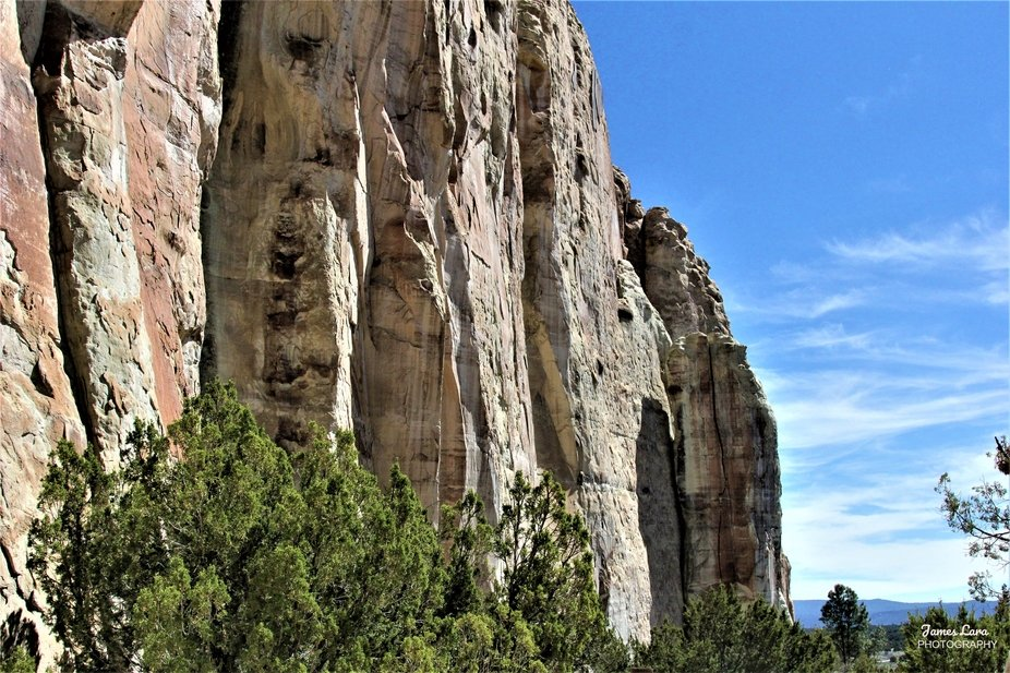 These sandstone cliffs, located at the El Morro National Monument in New Mexico (USA), served as ...