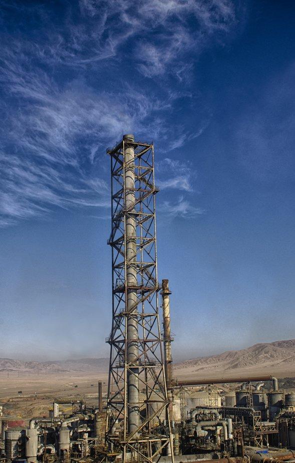 Chimenea en la Negra Antofagasta