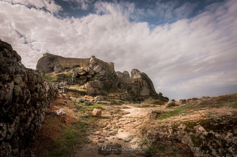 After a good hike the reward is at the top of the hill, Monsanto medieval castle. Monsanto - Port...