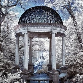 Temple of Love, Old Westbury Gardens  Nikon D70 / 590 nm IR  #infrared  #infrared_images #infraredphotography #CreativeIR #lifepixel  #nikon #lum...