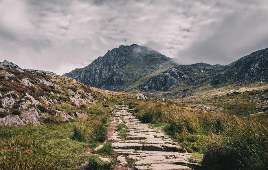 A landscape image of Tryfan - a mountain in Wales