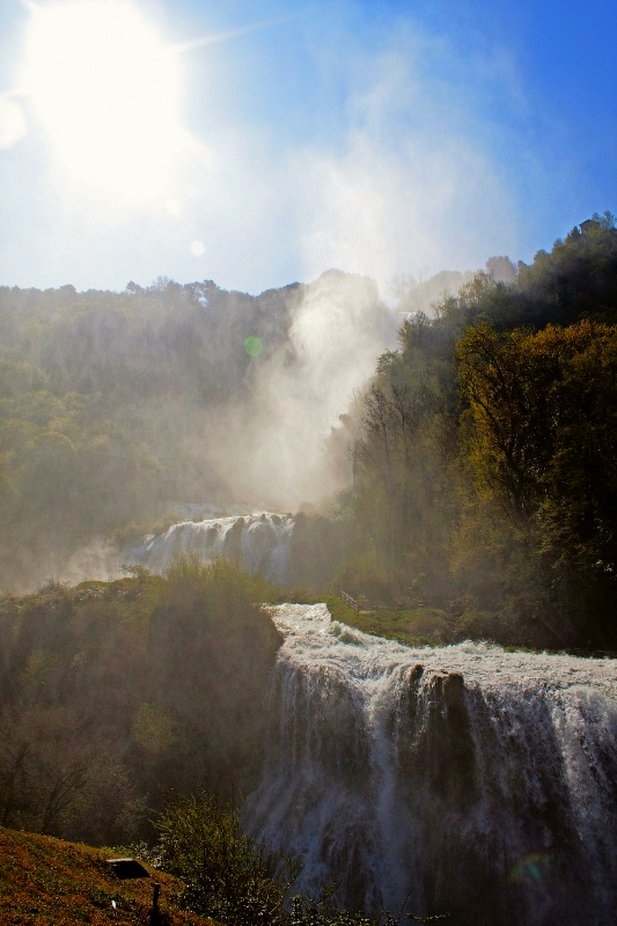 Marmore's waterfalls between rocks copy