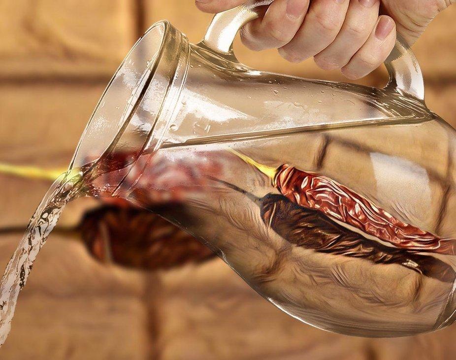 Scharfes Wasser