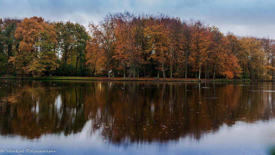 Autumn and its reflection !!