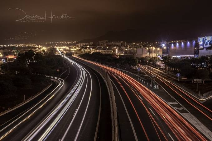 Adeje Light Trails w_DSC5949-HDR by Hov1s - Bright City Lights Photo Contest