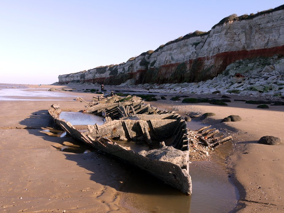 Wreck of the Sheraton on the beach at Hunstanton